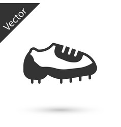 Grey baseball boot icon isolated on white vector