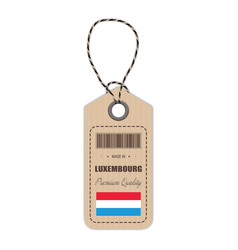 hang tag made in luxembourg with flag icon vector image