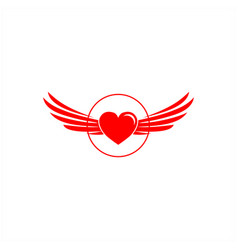 hearth and wings logo designs vector image