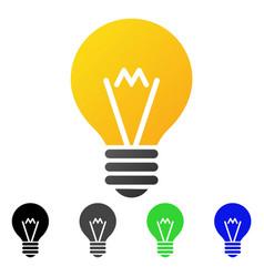 Hint bulb flat gradient icon vector