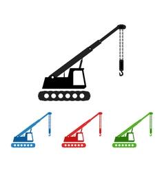 Icon cranes vector