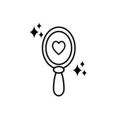 imagination mystery magic line style icon vector image