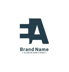 Initial letter ea logo - minimal logo vector