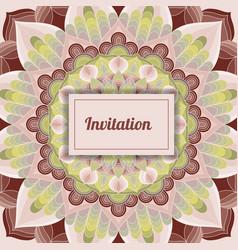 invitation vintage style vector image