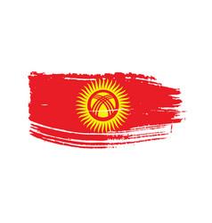 kirghizia flag vector image