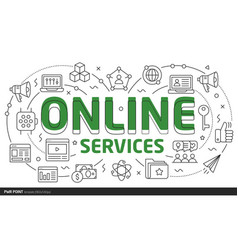 Lines template online services vector