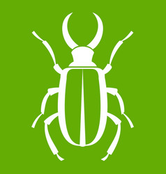 Lucanus cervus icon green vector