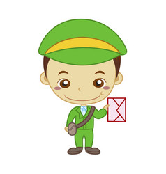 Mail carrier job vector