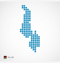 malawi map and flag icon vector image