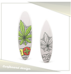 Medical marijuana surfboard two vector