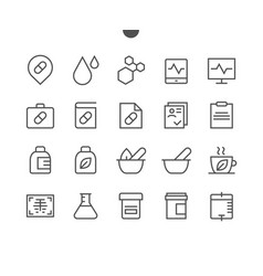medical ui pixel perfect well-crafted thin vector image