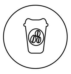Monochrome contour circular frame with disposable vector
