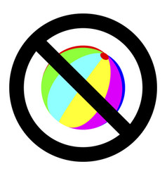 no playing with ball vector image