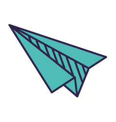 paper plane flying on white background vector image