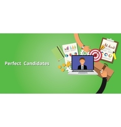 perfect and best employee or candidate vector image
