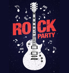 Poster flyer design template for rock party vector