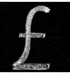 Pound sign on chalkboard vector image