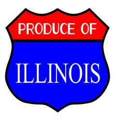 Produce of illinois vector