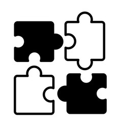 puzzles jigsaw pieces vector image