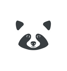 raccoon face raccoon mascot idea for logo vector image