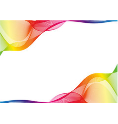 Rainbow ribbon abstract shapes with copy space vector