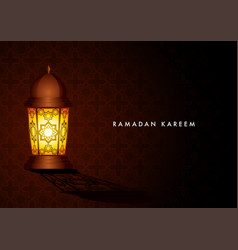 ramadan kareem islamic greeting card design vector image