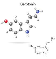 Serotonin molecule vector image