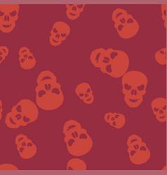 Skull halloween pattern seamless color vector