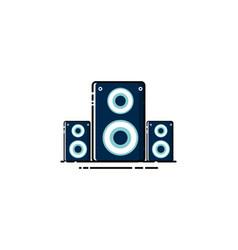 sound speaker logo design vector image