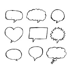 speech bubble sketch hand drawn vector image