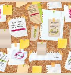 Sticker notes pined on board seamless vector