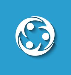 teamwork people convention logo design vector image