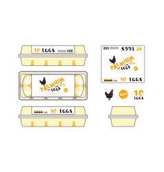 template label for egg packaging vector image
