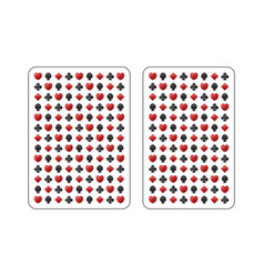the back side of the playing card vector image