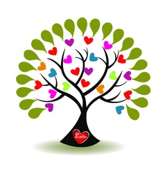 tree love logo vector image