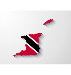 Trinidad and Tobago map with shadow effect vector image
