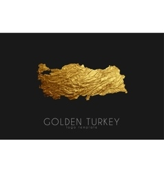 Turkey map Golden Turkey logo Creative Turkey vector