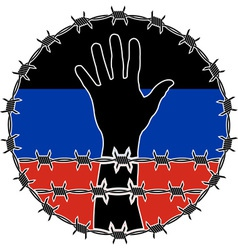 violation of human righs in Donetsk vector image