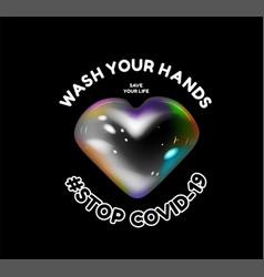 wash your hands stop coronavirus vector image