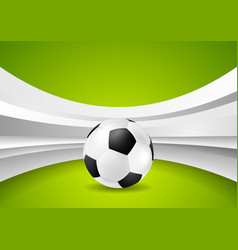 wavy football abstract background with soccer ball vector image