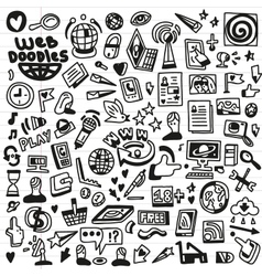 Web - doodles set vector