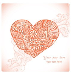 Floral heart Heart made of abstract ornamentDoodle vector image vector image