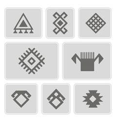 monochrome icons with Persian ethnic symbols vector image vector image