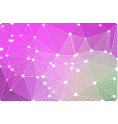 purple green pink geometric background with mesh vector image