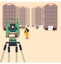Surveying in Construction vector image