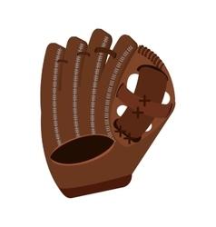 Baseball catcher glove isolated icon vector