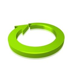 Circular Arrow 3D vector image vector image
