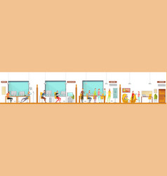 game development office composition vector image