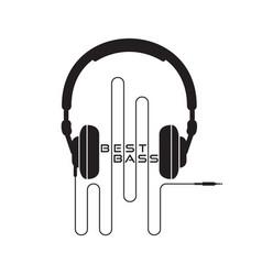 headphone icon sign vector image