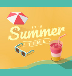 its summer time on beach vector image vector image